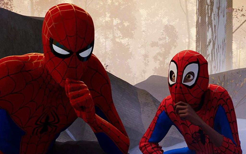 Peter B. Parker and Miles Morales in 'Spider-Man: Into the Spider-Verse'