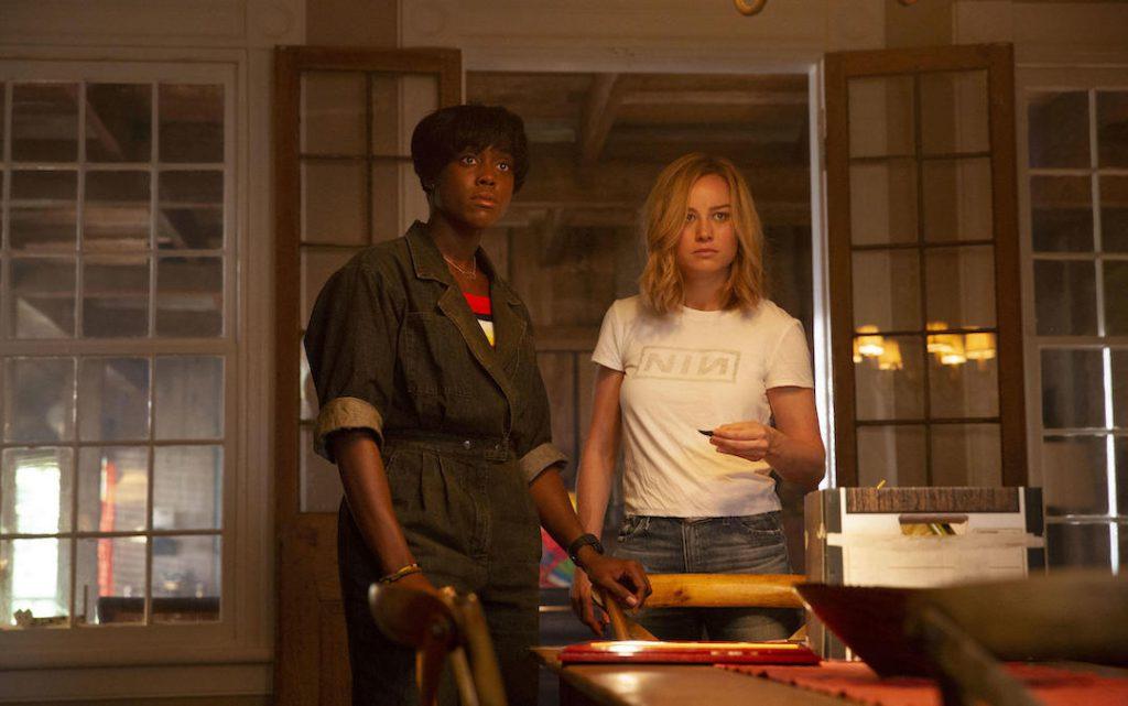 Lashana Lynch and Brie Larson as Maria Rambeau and Carol Danvers in 'Captain Marvel' (Credit: Marvel)