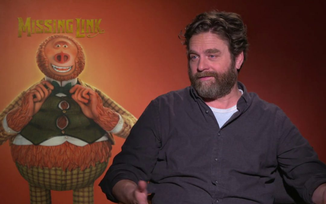 Zach Galifianakis – 'Missing Link' Interview with Atom Tickets