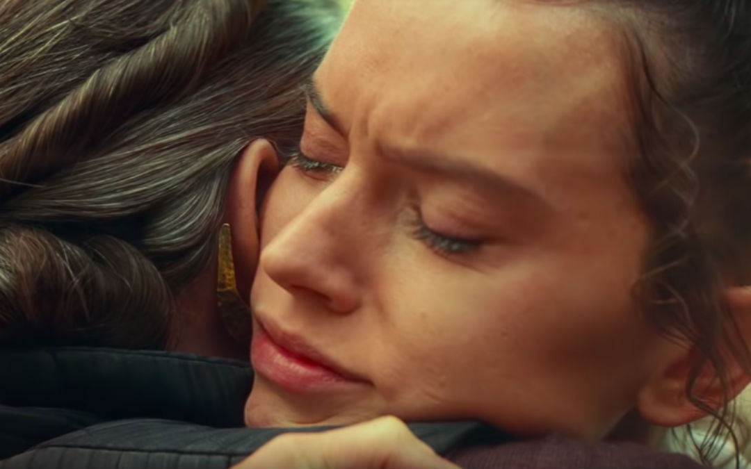What Carrie Fisher Said To Daisy Ridley During Their 'Rise of Skywalker' Hug