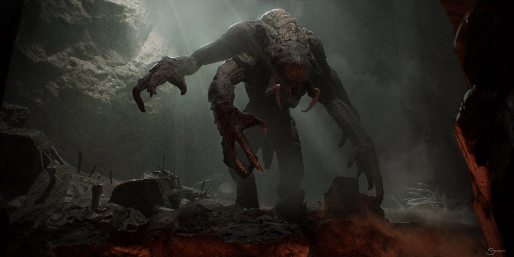 Concept art for the Darkghast, a new creature introduced in 'Vader Immortal: Episode II' (Credit: Lucasfilm)