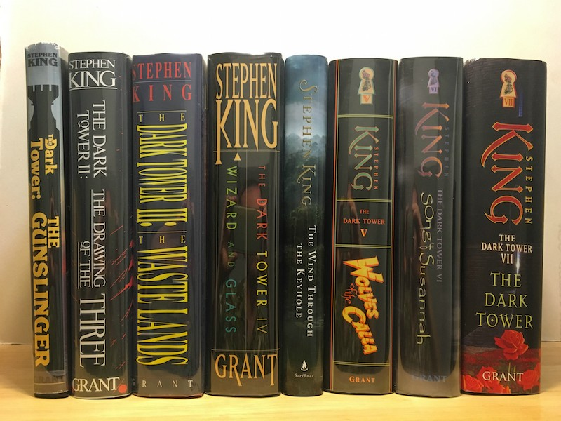 The same prints are lined up on my bookshelves at home. (Credit: Simon & Schuster)