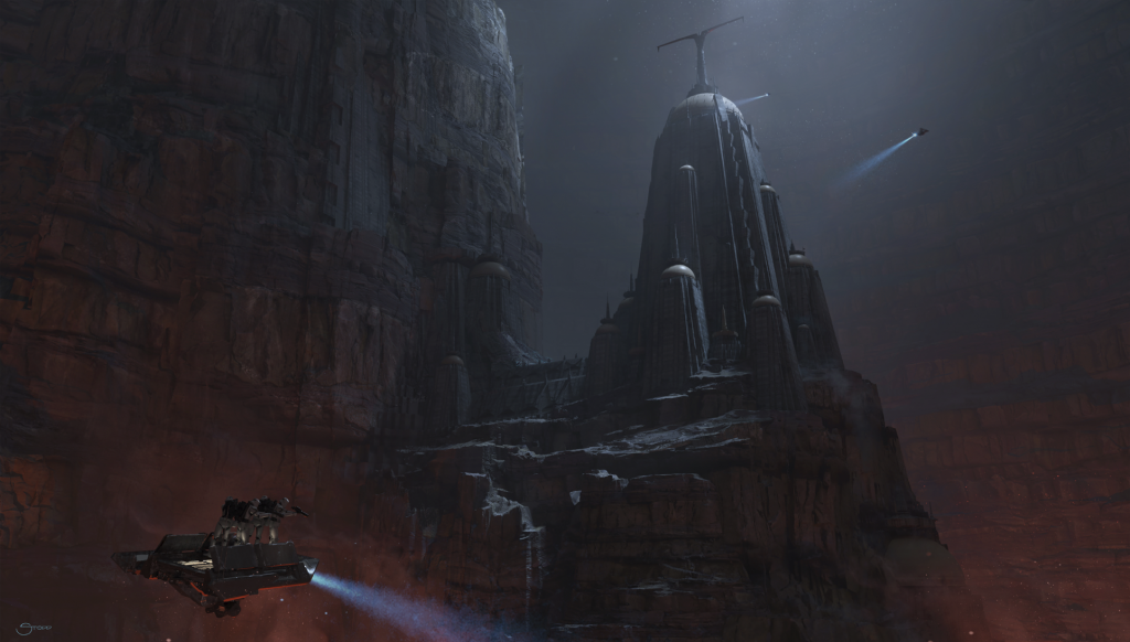 'Vader Immortal: Episode II' concept art for the ancient Corvax Fortress (Courtesy: Lucasfilm)