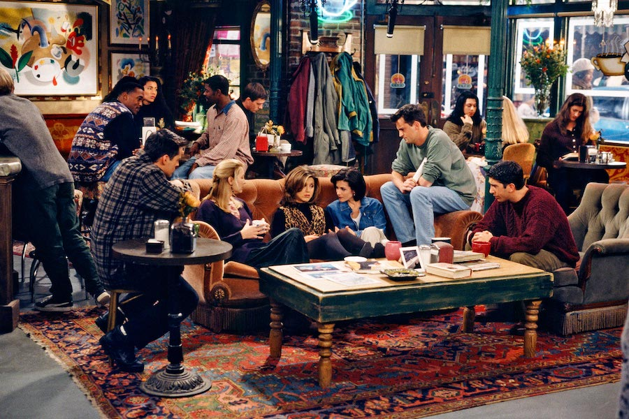 The 'Friends' cast at Central Perk (Courtesy: NBC Universal)
