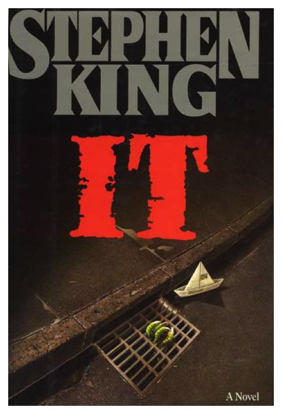 The original cover for Stephen King's 'It' (1986)