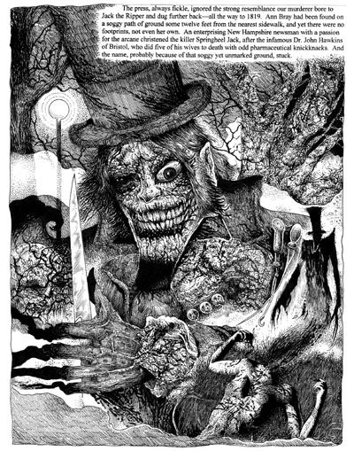 Glenn Chadbourne's illustration for 'Strawberry Spring' in 'The Secretary of Dreams Vol. 2' (Credit: Cemetery Dance Publications)