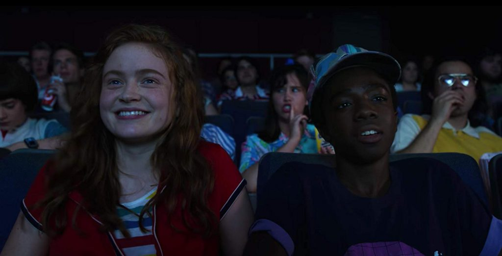 Max and Lucas bond while watching a horror movie (Courtesy: Netflix/Stranger Things)