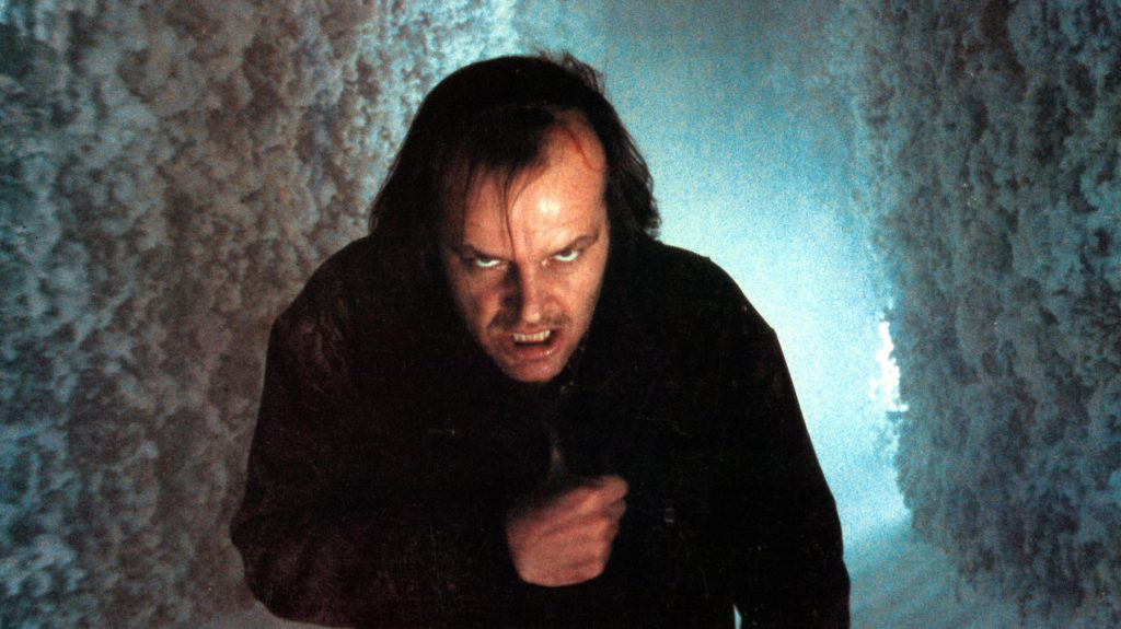 Jack Nicholson as Jack Torrance in Stanley Kubrick's adaptation of Stephen King's 'The Shining'