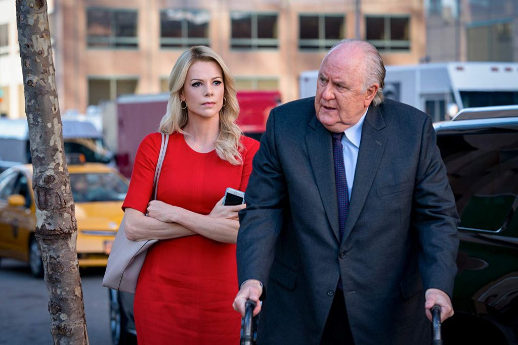 Charlize Theron (Megyn Kelly) and John Lithgow (Roger Ailes) in 'Bombshell' (Courtesy: Lionsgate)