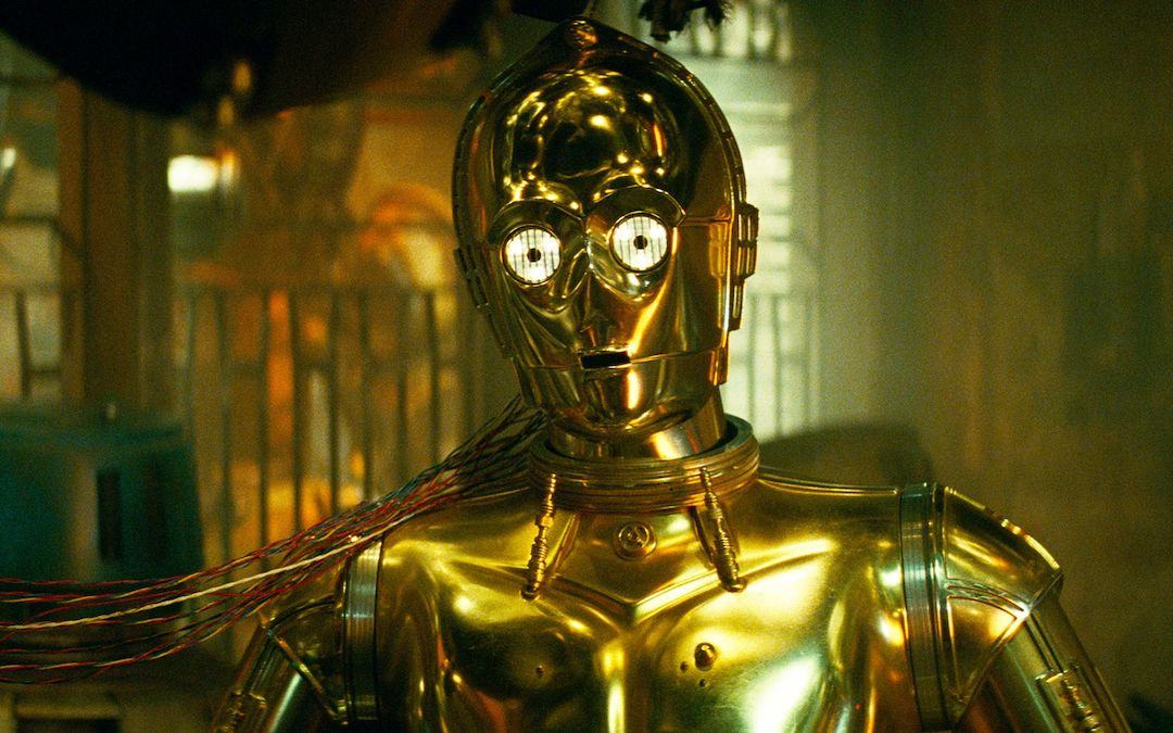Anthony Daniels as C-3PO (Courtesy: Lucasfilm)