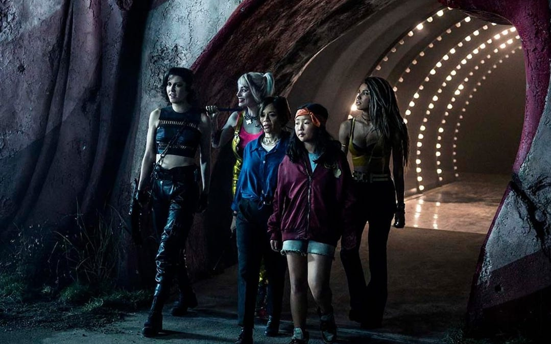 L-R: Mary Elizabeth Winstead, Margot Robbie, Rosie Perez, Cathy Yan and Jurnee Smollett-Bell in 'Birds of Prey' (Courtesy: Warner Bros.)