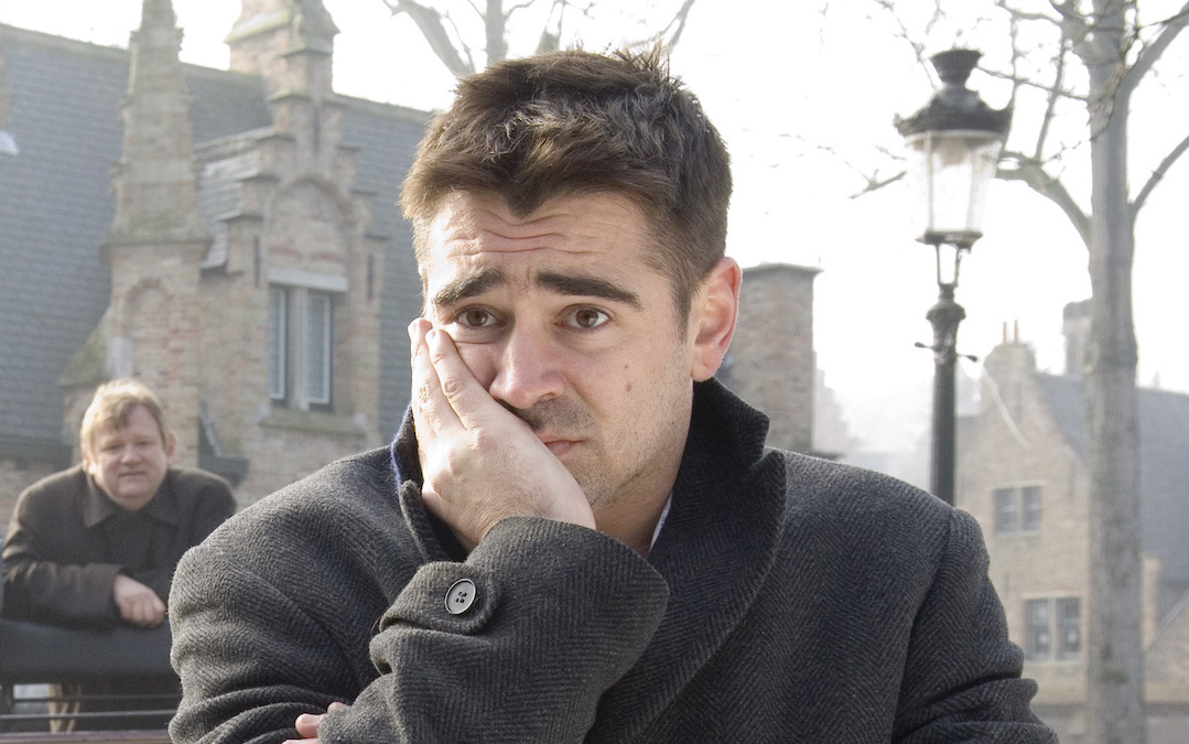 Colin Farrell as hitman Ray in 'In Bruges'