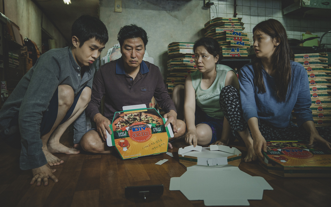 L-R: Choi Woo-sik, Song Kang-ho, Lee Jeong-eun, Park So-dam in Bong Joon Ho's 'Parasite' (Courtesy: Neon)