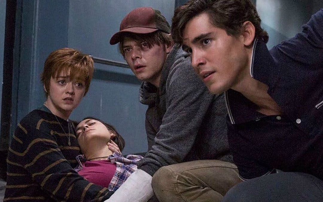 L-R: Maisie Williams as Rahne Sinclair/Wolfsbane, Blu Hunt as Danielle Moonstar, Charlie Heaton as Sam Guthrie/Cannonball and Henry Zaga as Roberto da Costa/Sunspot in Fox's 'The New Mutants' (Courtesy: 20th Century Studios)