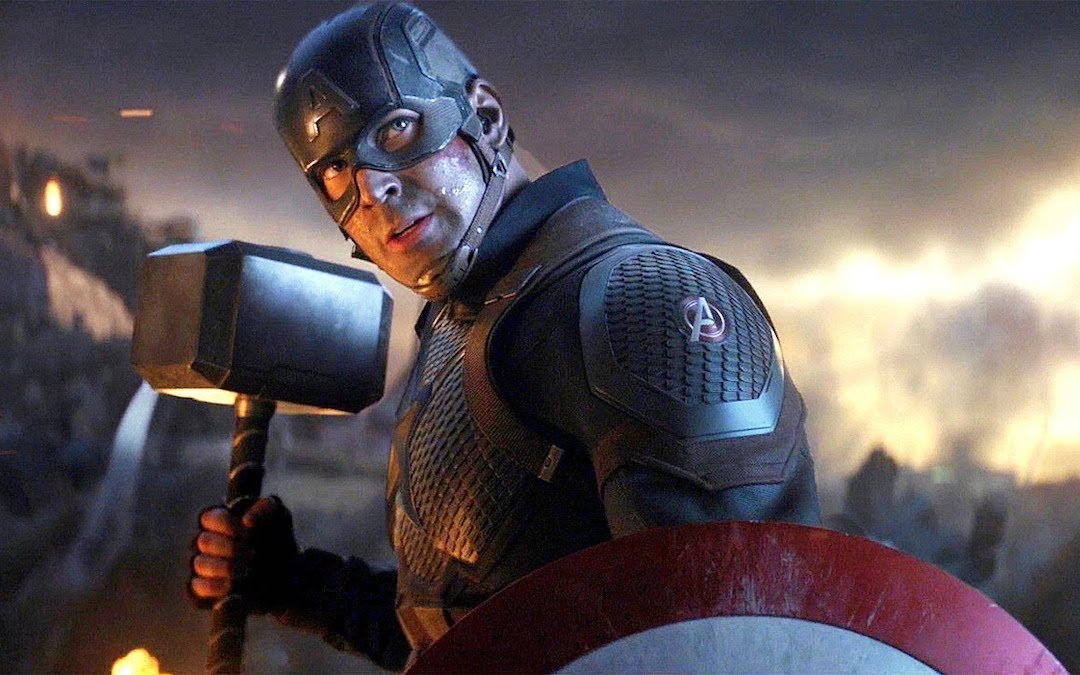 Chris Evans as Steve Rogers/Captain America lifting Thor's hammer, Mjolnir, in 'Avengers: Endgame' (Courtesy: Marvel Studios)