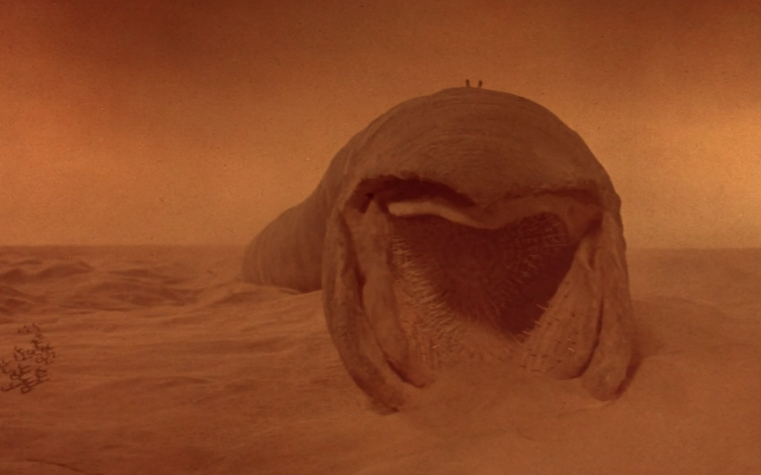 A sandworm from David Lynch's infamous 1984 adaptation of 'Dune'