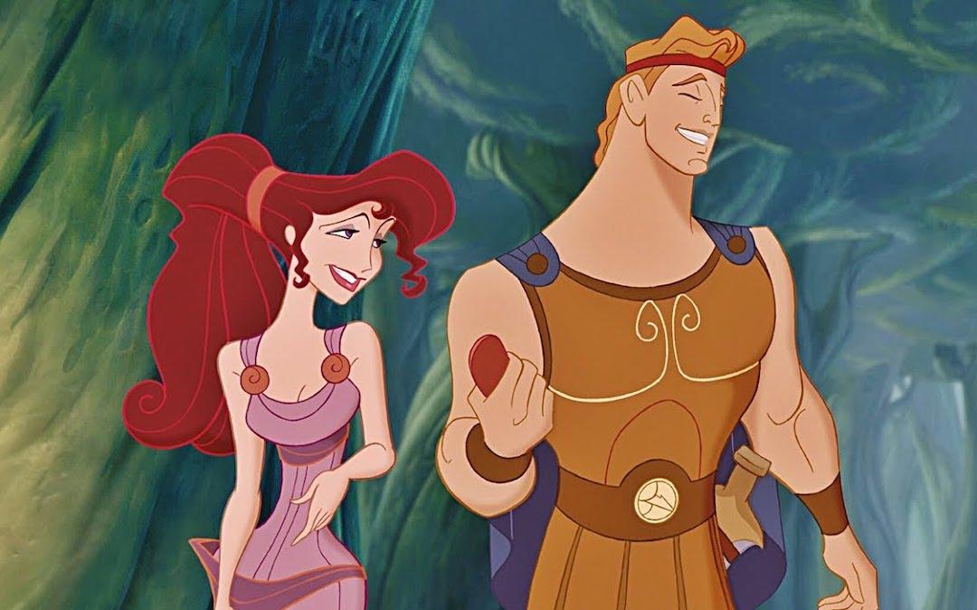 Megara and Hercules in Disney's animated 'Hercules'